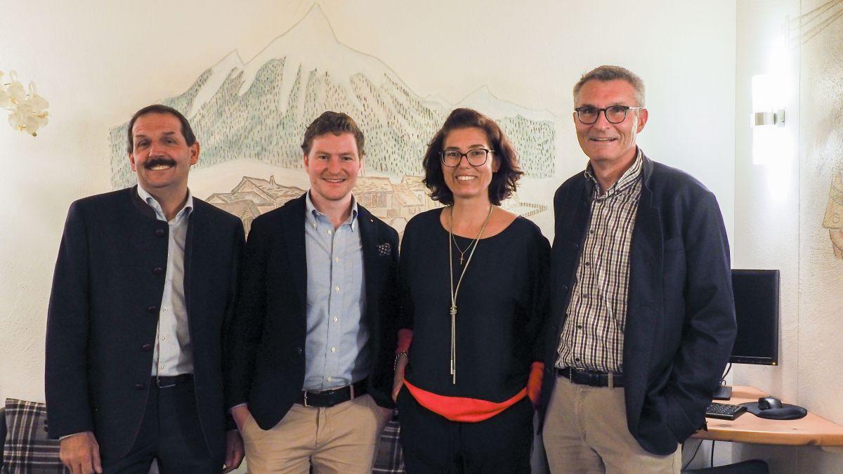 Die vier Nationalratskandidaten (von links): Duri Campell, Gian-Marco Tomaschett, Franziska Preisig und Michael Pfäffli