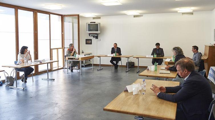 Gesprächsrunde im Bergell mit Nationalrätin Anna Giacometti. Foto: z.Vfg