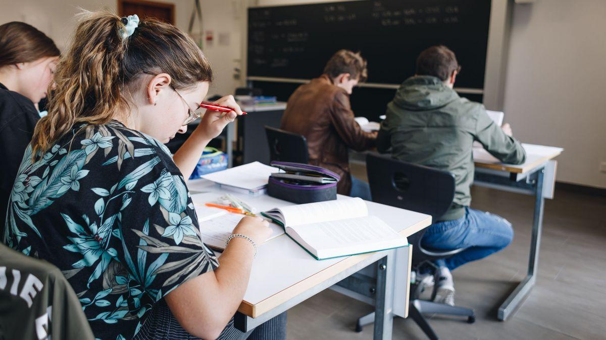 Die aktuellen Maturanden werden sich so sehr in ihre Abschlussprüfungen vertiefen wie die Gymnasiastinnen auf diesem Bild. Bestimmt werden sie aber einen Minimalabstand von zwei Metern wahren. Foto: Fabian Gattlen