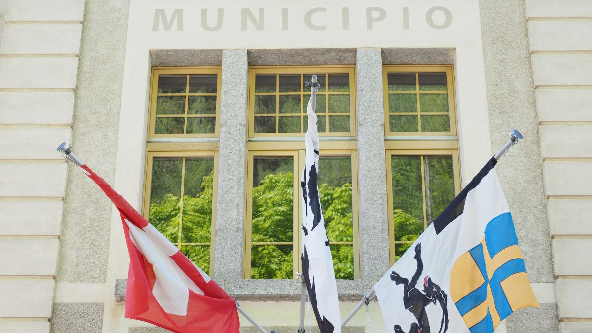 Die Bergeller Gemeindeverwaltung in Promontogno