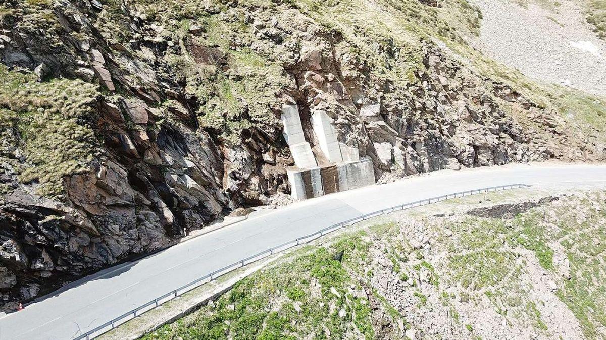 Berninastrasse mit bereits bestehenden Unterfangungen. Foto: TBA