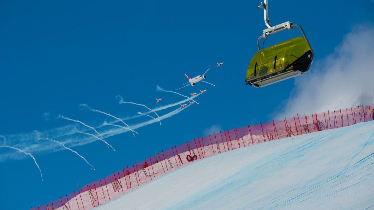 Patrouille Swiss an der Ski-WM 2017 in St.Moritz   Foto: fotoSwiss.com/cattaneo