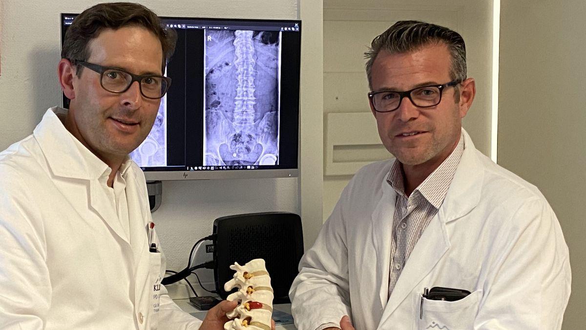 Foto: PD Dr. med. Fabrice Külling (links) und Dr. med. Patrick Baumann. Foto: z. Vfg