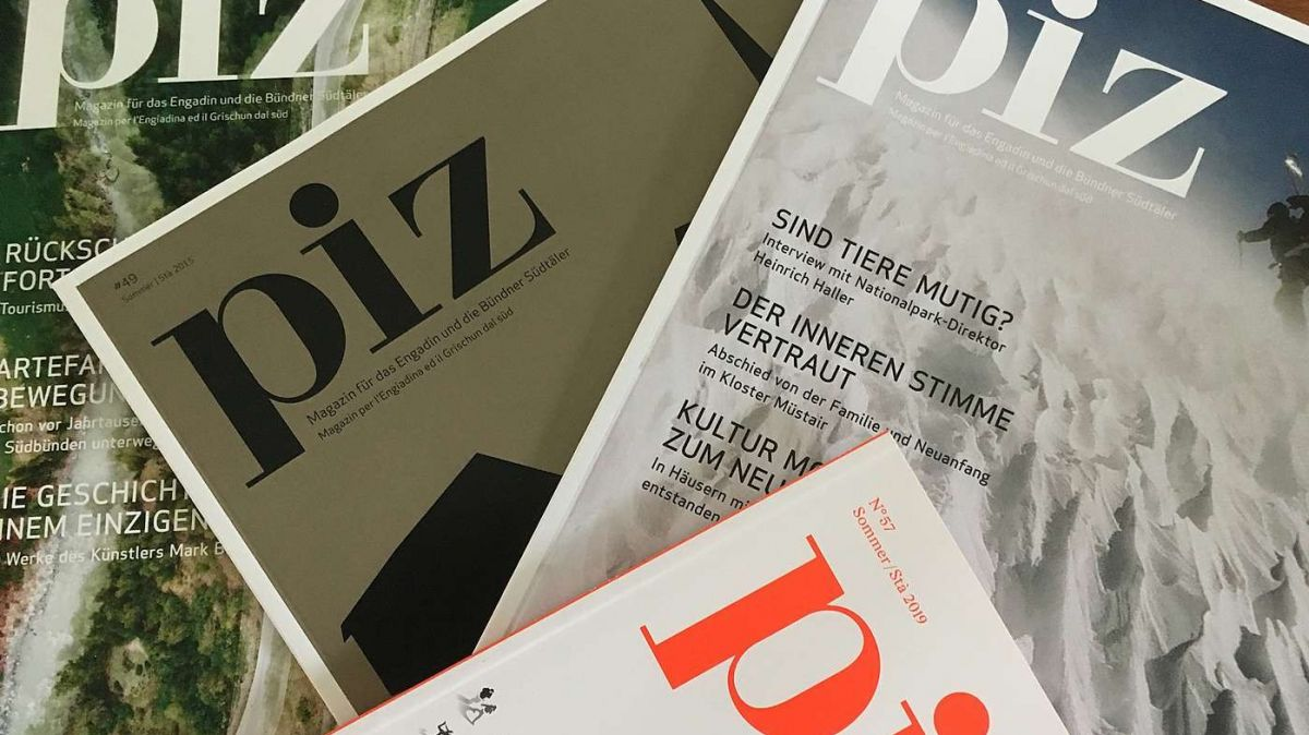 Il magazin «piz» dess dar üna vusch per la cultura da l'Engiadina e dal Grischun dal süd (fotografia: mad).