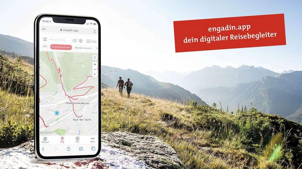 Ein Reisebegleiter für das Unterengadin: Die engadin.app. (Foto: TESSVM)
