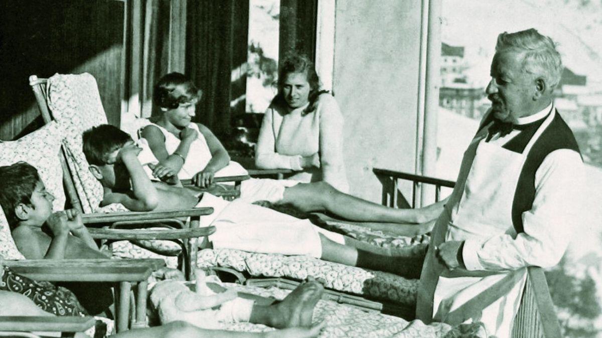 Der Samedaner Arzt Dr. Oscar Bernhard gilt als Begründer der Heliotherapie «Heilung durch Sonnenbestrahlung». Foto: z. Vfg.