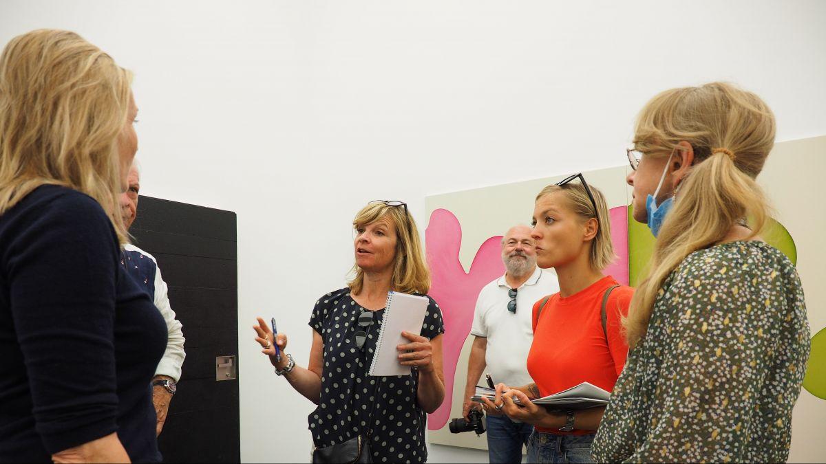 Traf auf eine reges Interesse bei den Medienschaffenden: Die Galerie von Bartha in S-chanf.