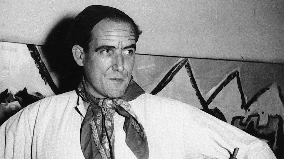 Cla Biert dal 1951 i'l Cabaret da la Panaglia (fotografia: Relasch Cla Biert, Biblioteca naziunala/Archiv svizzer da litteratura).