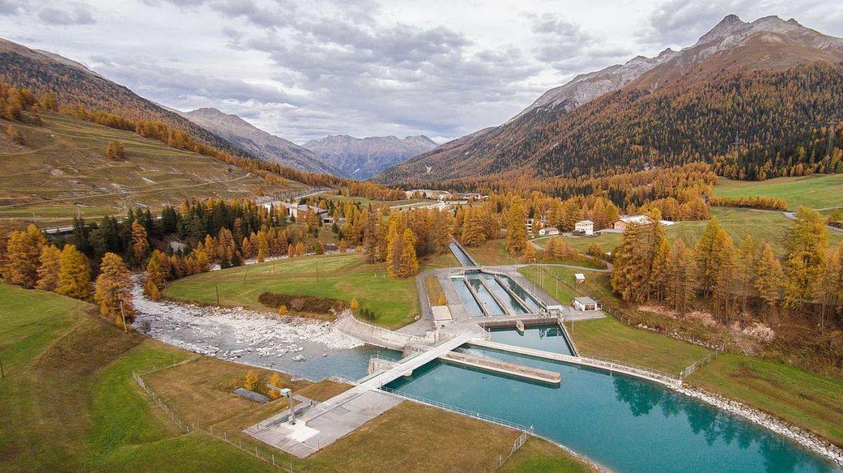 Wasserfassung der Engadiner Kraftwerke AG bei S-chanf. Foto: EKW