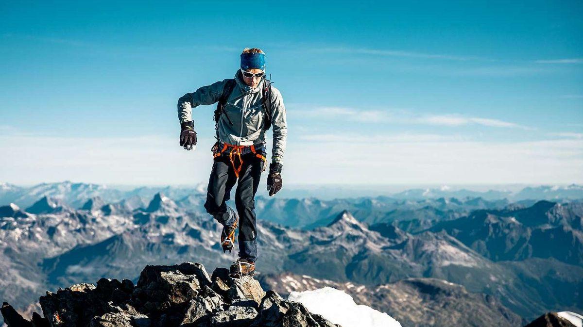 Die Bilder am Piz Bernina sind während einer Trainingseinheit entstanden. Während dem Rekordversuch hatte Philipp Brugger keine Zeit für Bilder (Foto: Maximilian Draeger).