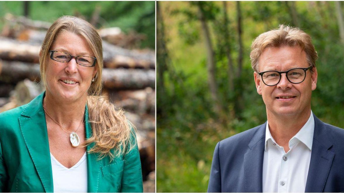 Die 49-jährige Barbara Aeschbacher ist promovierte Juristin und kandidiert als Parteilose. Der 55-jährige Andrea Gutgsell ist Pfändungsbeamter. Er gehört der FDP an.