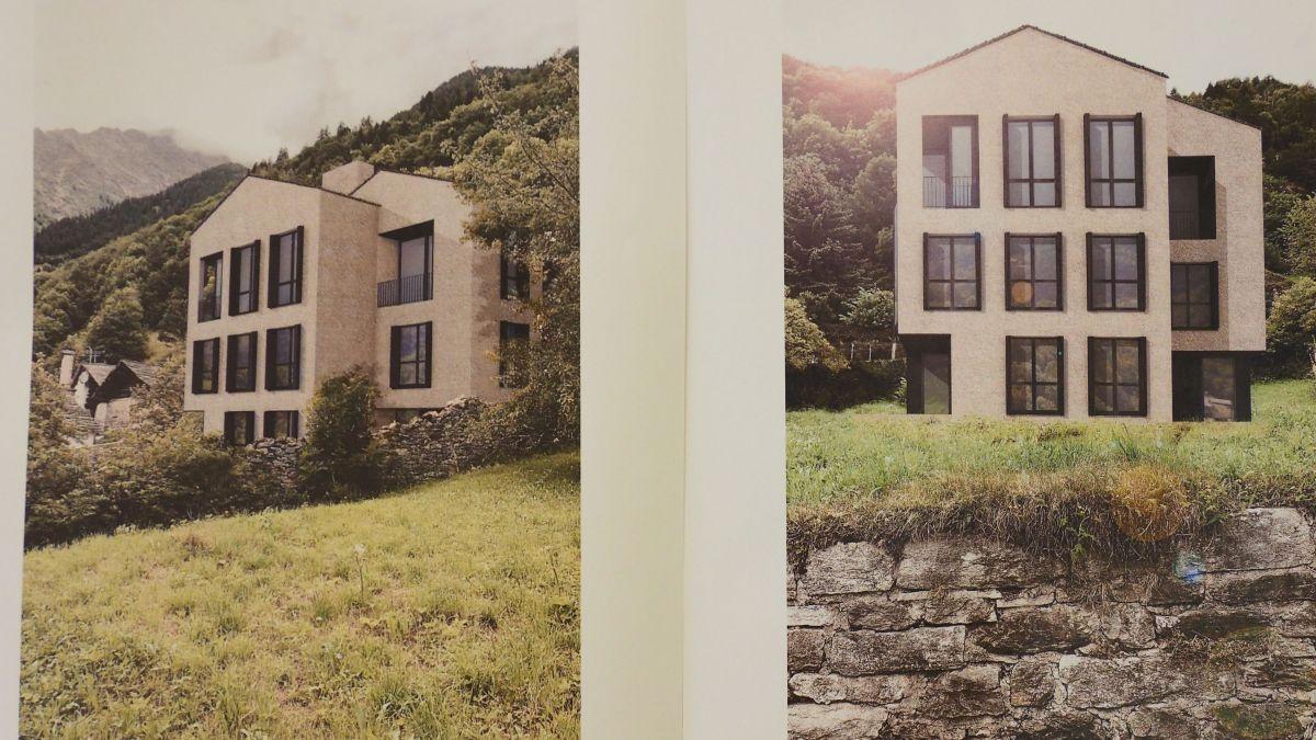 Fotomontage des geplanten dreistöckigen Einfamilienhauses