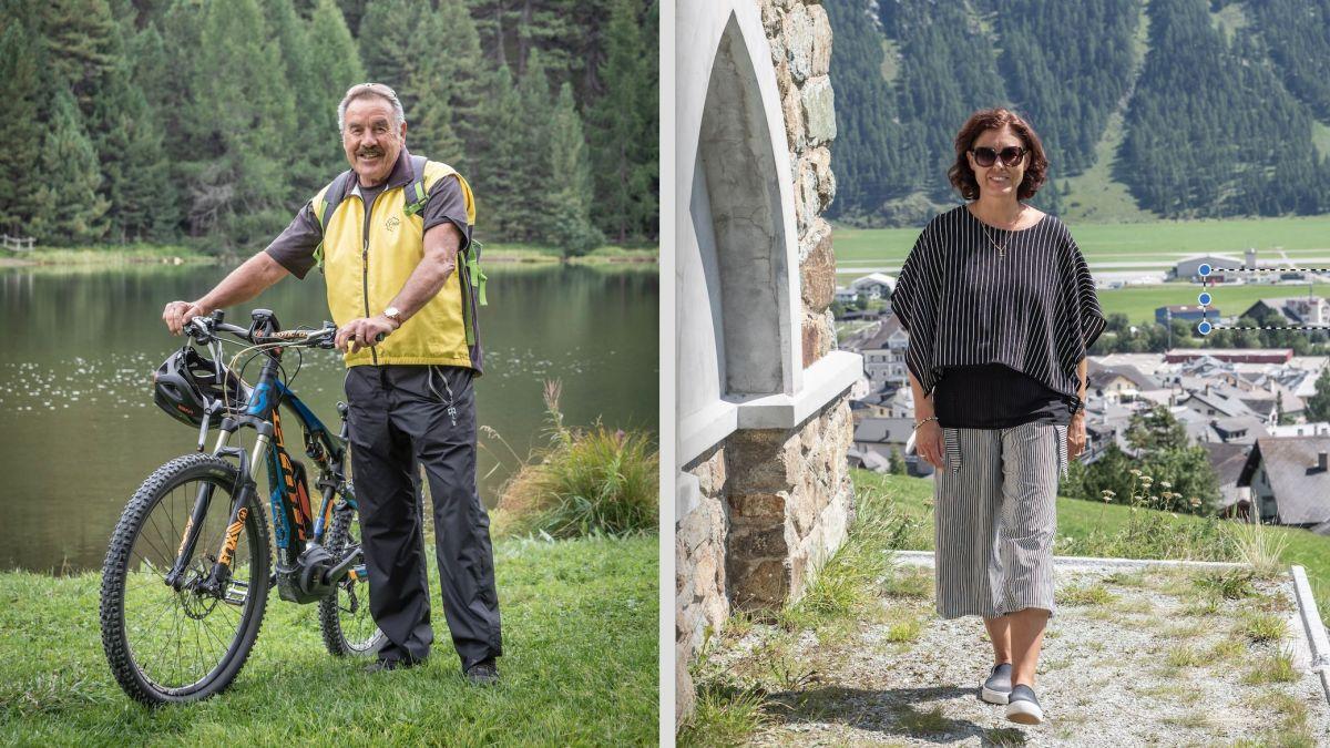 Mario Salis (links) ist für die Begrenzungsinitiative, Franziska Preisig (rechts) dagegen. Fotos: Daniel Zaugg