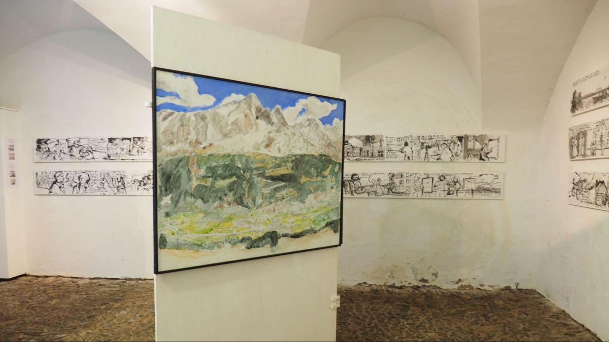 Einblick in die Ausstellung von Martin Ruch in der Rimessa Castelmur