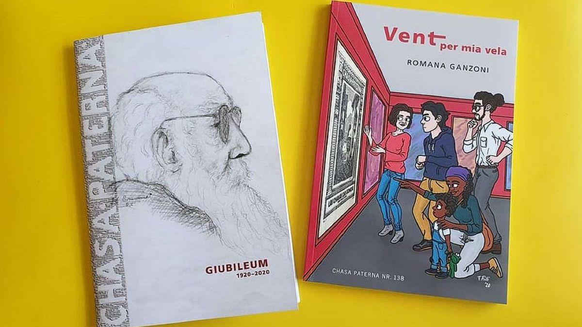 Quista fin d'eivna cumparan la broschüra da giubileum 100 ons Chasa Paterna e la 138avla ediziun scritta da l'autura Romana Ganzoni (fotografia: Riccarda Müller/RTR).