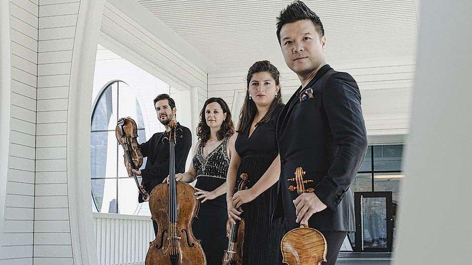 Il Quartet Stradivari concertescha quist'eivna a Scuol e contuorns (fotografia: Quartet Stradivari).