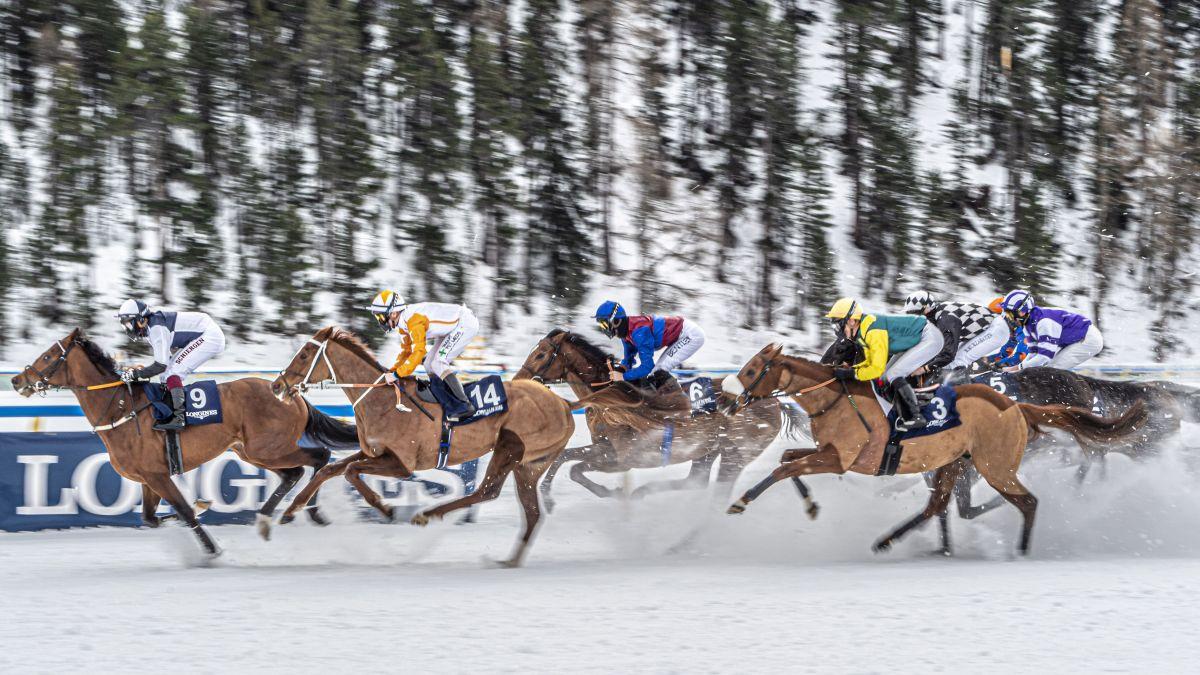 2021 werden auf dem St.Moritzersee keine Pferderennen stattfinden. Wegen Corona wurden sie auf 2022 verschoben. Foto: Daniel Zaugg