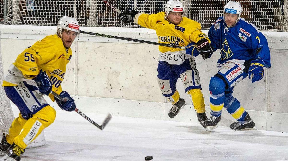 Das nächste Derby-Spiel zwischen dem CdH Engiadina und dem EHC St.Moritz wäre für den 28. November geplant. Der Meisterschaftsbetrieb ist aber vorläufig und bis auf Weiteres unterbrochen (Foto: Daniel Zaugg).