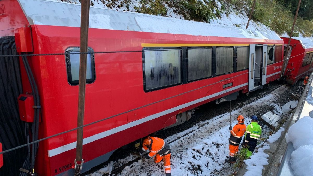 Die Folgen des Unfalls sind fast behoben. Morgen Donnerstag fährt die RhB wieder auf der Albulastrecke.