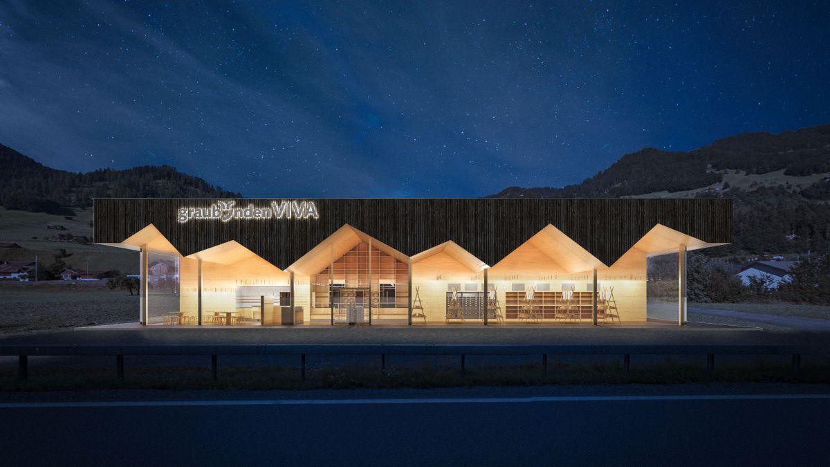 So oder so ähnlich könnte das neue Regionalitäts-Kompetenzzentrum in Jenaz aussehen. Foto: z. Vfg.