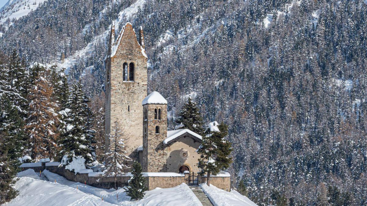 Die Kirche San Gian in Celerina. Foto: Daniel Zaugg