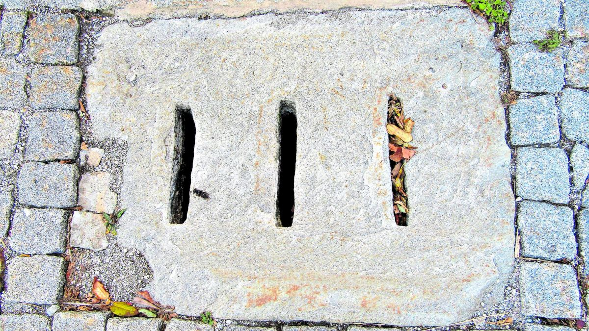 Ein Schachtdeckel in Promontogne. Foto: Katharina von Salis