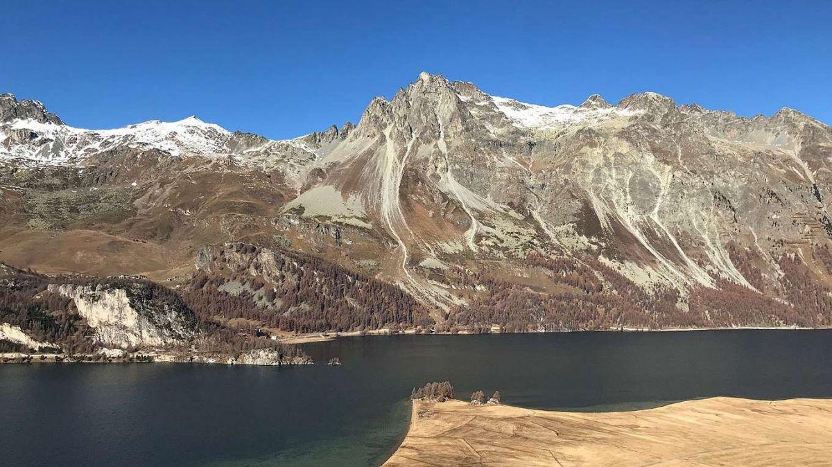 Der Blick auf den Silsersee. Foto: Reto Stifel
