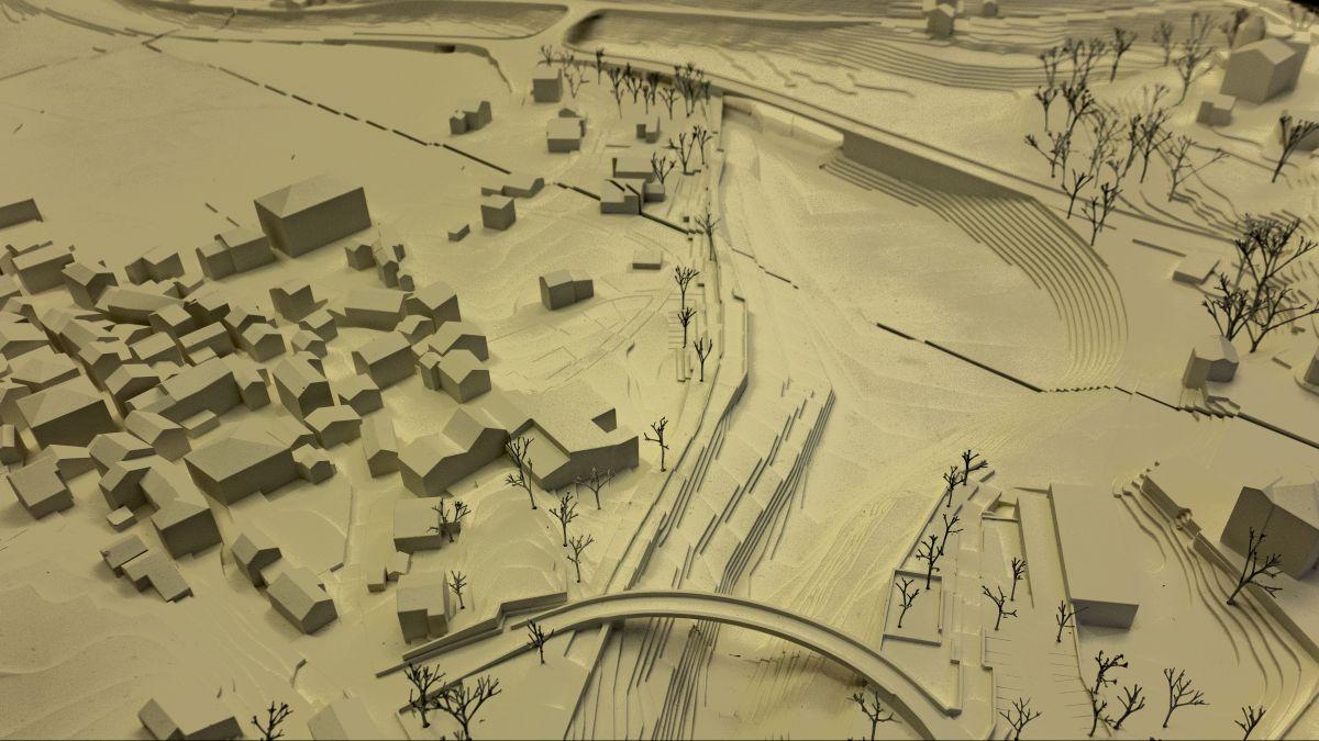 Neue Dämme, neue Brücken, neue Strassenabschnitte: Im Modell sind sie zu erkennen.