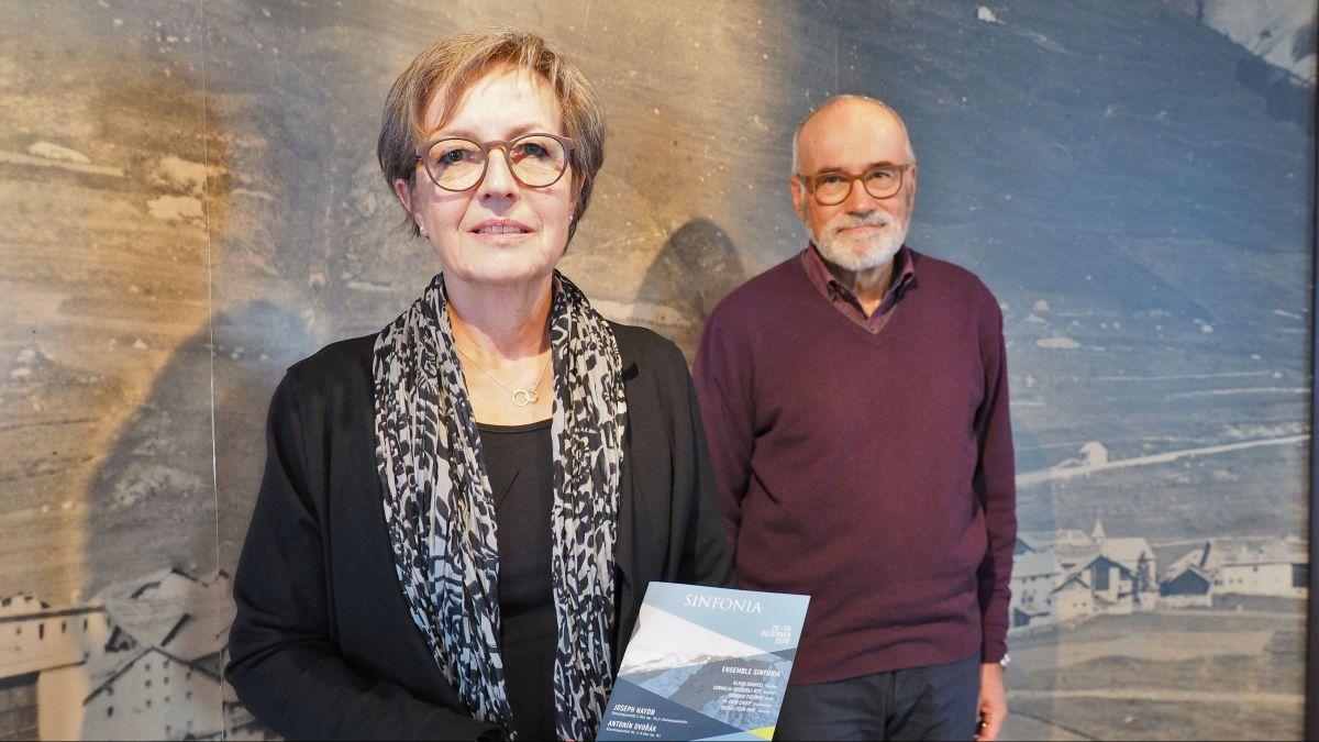 Liessen sich nicht entmutigen: Elisabeth Melcher und Daniel Badilatti taten alles, um das diesjährige Sinfonia-Konzert zu ermöglichen.
