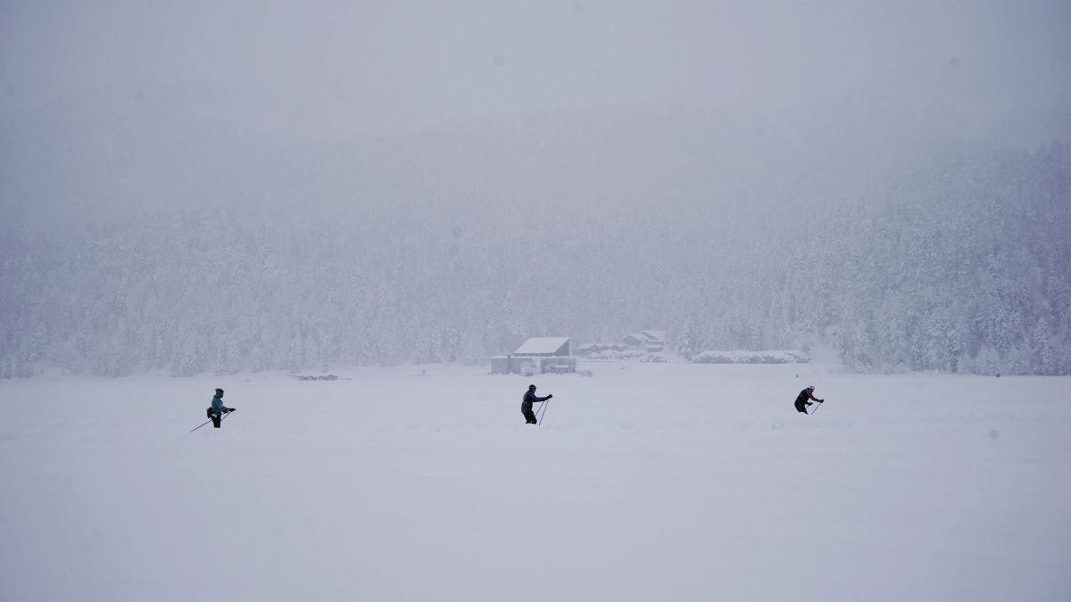 Der Langlaufsport erlebte während des Festtagen einen regelrechten Boom. Foto: Denise Kley