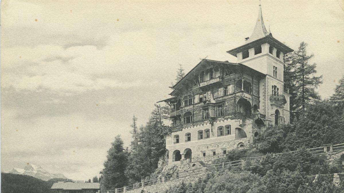 Die Chesa sur l'En, ehemals Chalet oder auch Villa Planta genannt, um 1890. Foto: Dokumentationsbibliothek St.Moritz