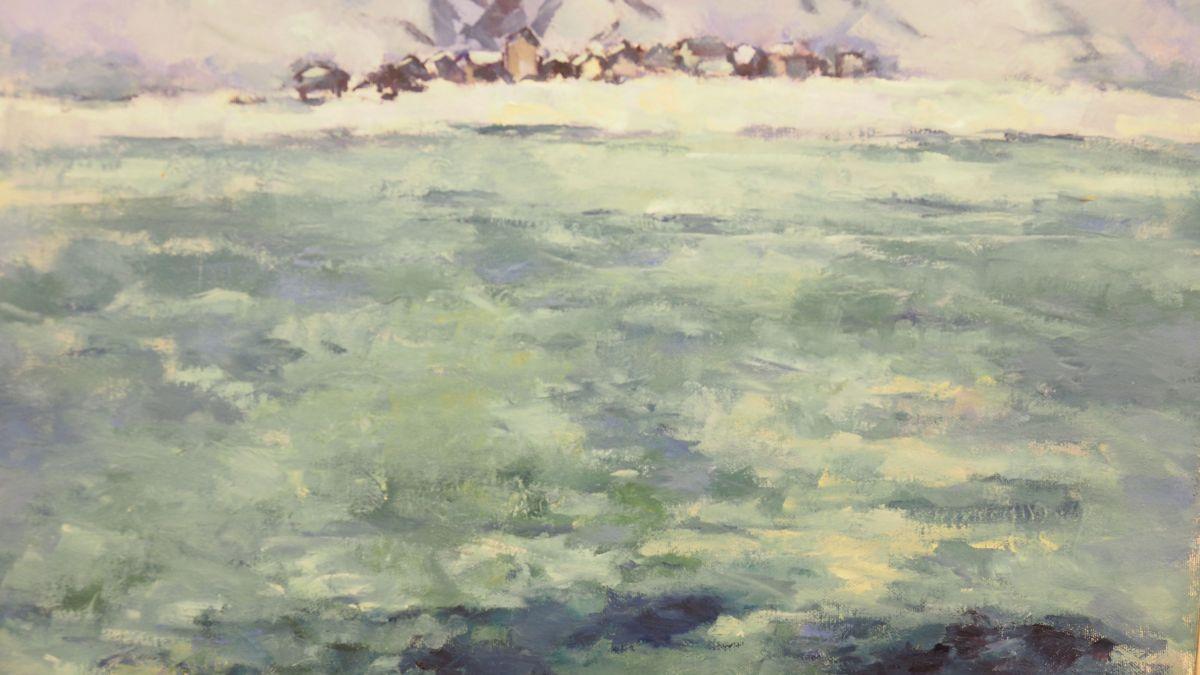 Ausschnitt aus dem Bild «Mitte November bei Isola» von Rita Bina Schmidt