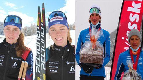 Marina und Nadja Kälin, Niclas Steiger, Fabrizio Albasini. Fotos: z.Vfg