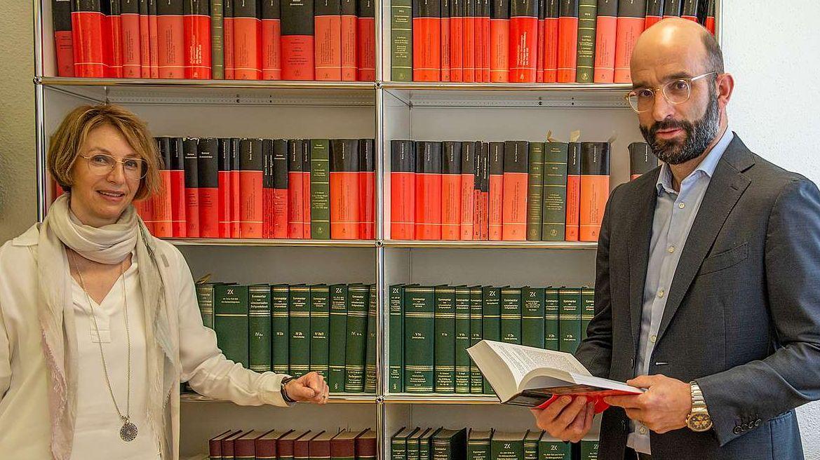 Gerichtspräsident Franco Giacometti und Vizepräsidentin Franziska Zehnder Fasciati. Foto: Reto Stifel