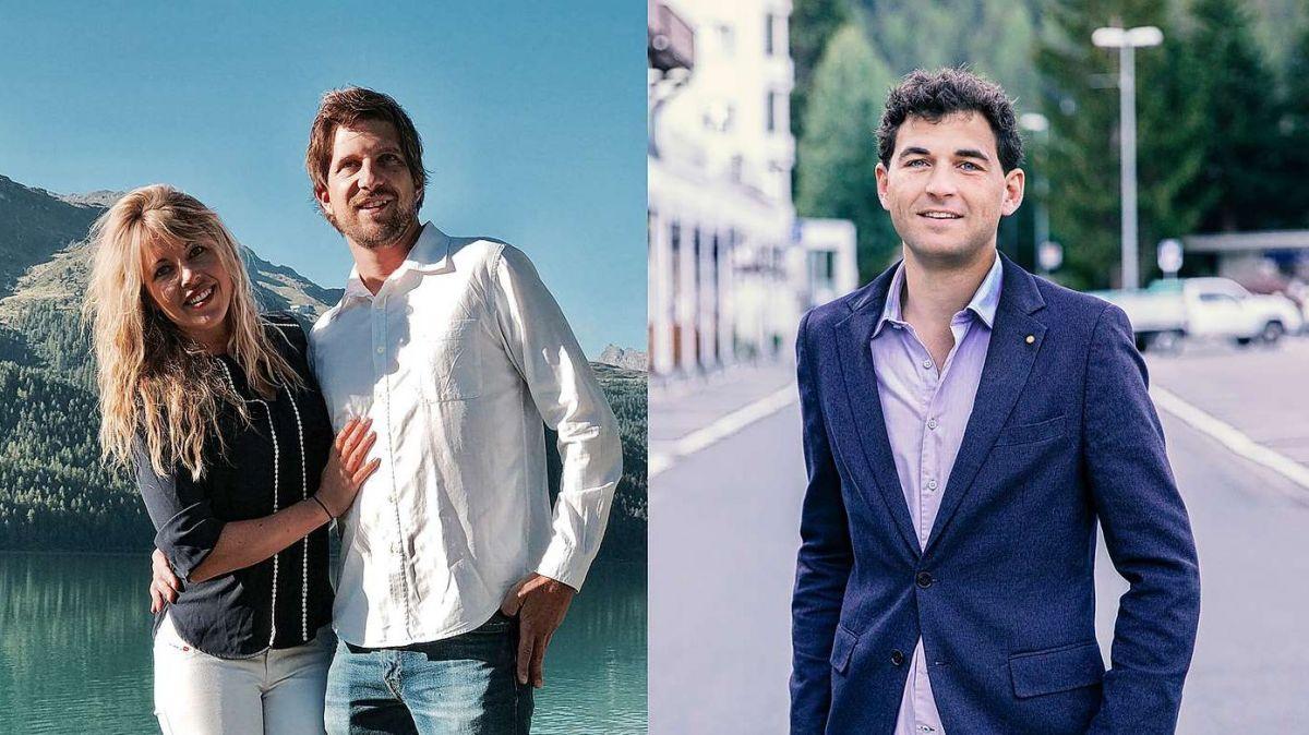 Beate Köhler und Steven Missiaen der Pappalou GmbH (links) und Nicolas Hauser vom gleichnamigen Gastronomiebetrieb in St.Moritz (rechts). Fotos: z.Vfg