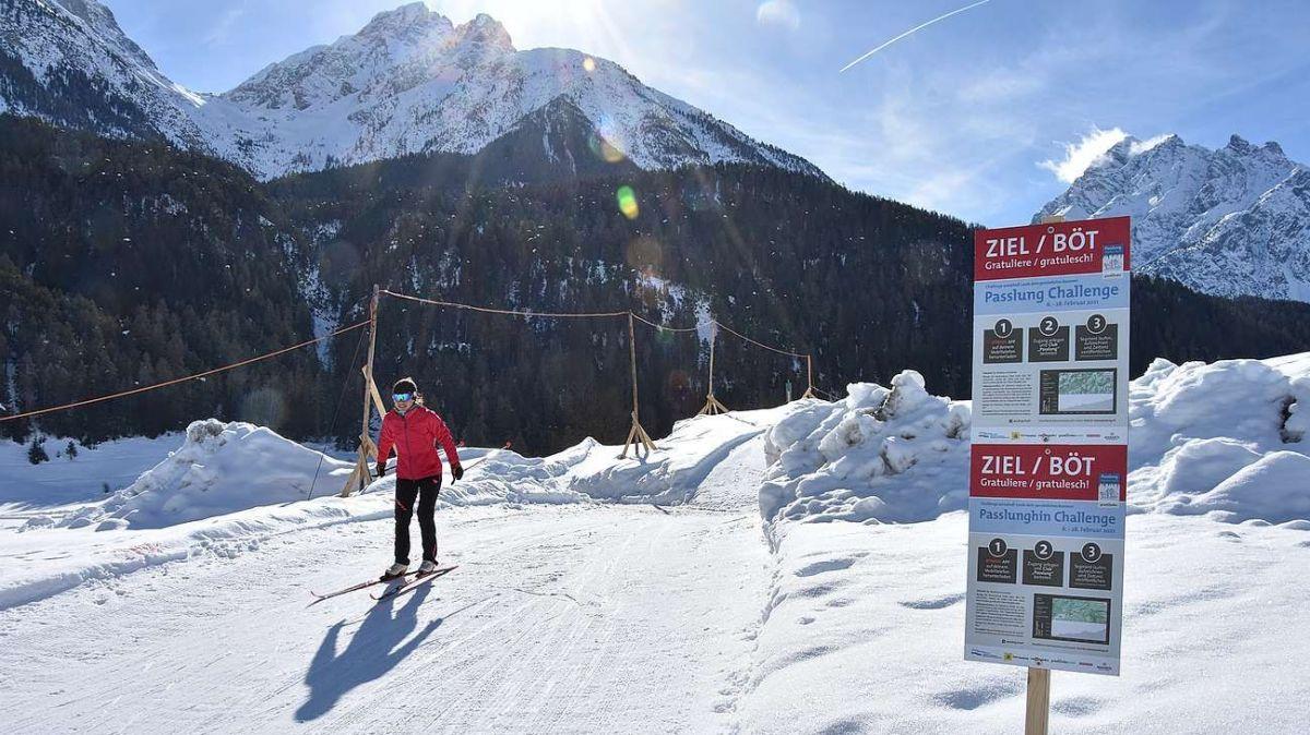 Das Ziel der Passlung-Challenge für Alt und Jung befindet sich in Scuol (Foto: Nicolo Bass).