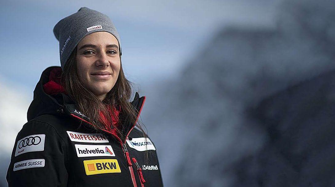 Talina Gantenbein feierte in Arosa 2020, an ihrem 33. Weltcup-Start, ihren ersten Weltcup-Podestplatz (Foto: Keystone-SDA)