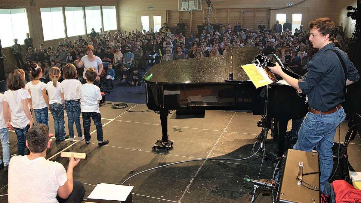 Il prüm festival da la chanzun rumantscha ha gnü lö dal 2019 a Trun (fotografia: Hans Huonder).