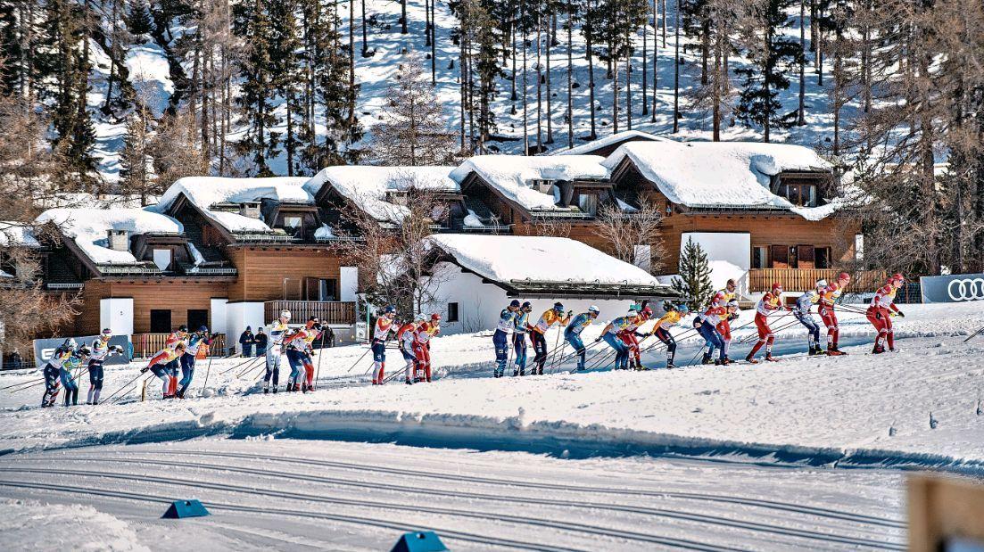 164 Profi-Langläuferinnen und Langläufer sind am Wochenende bei der Kurz- und Langdistanz angetreten. Foto: fotoswiss.com/Giancarlo Cattaneo