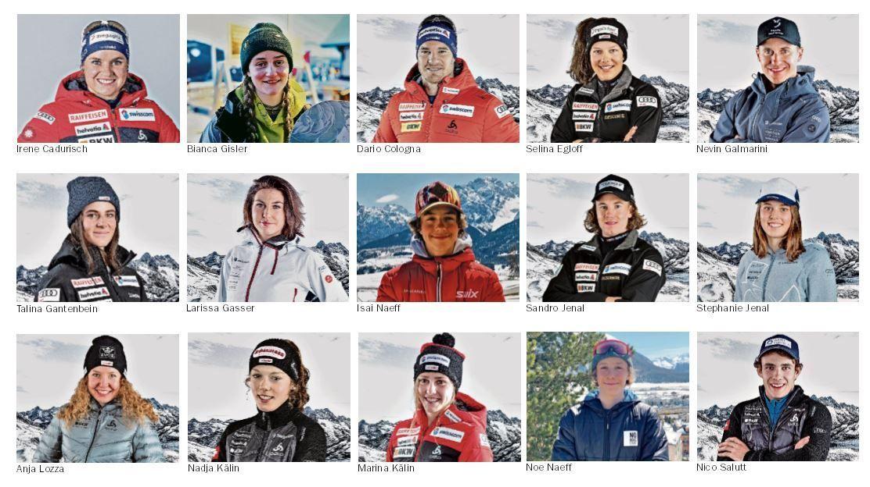 Die Leistung der Engadiner Sportler kann sich sehen lassen. Fotos: Swiss Ski / z. Vfg.
