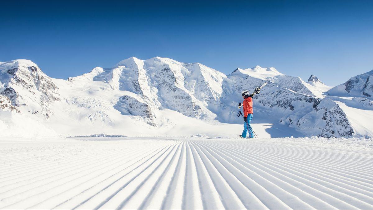 Perfekte Wintersportverhältnisse im Engadin. Doch wegen Corona blieben  viele Gäste aus, vor allem diejenigen aus dem Ausland,