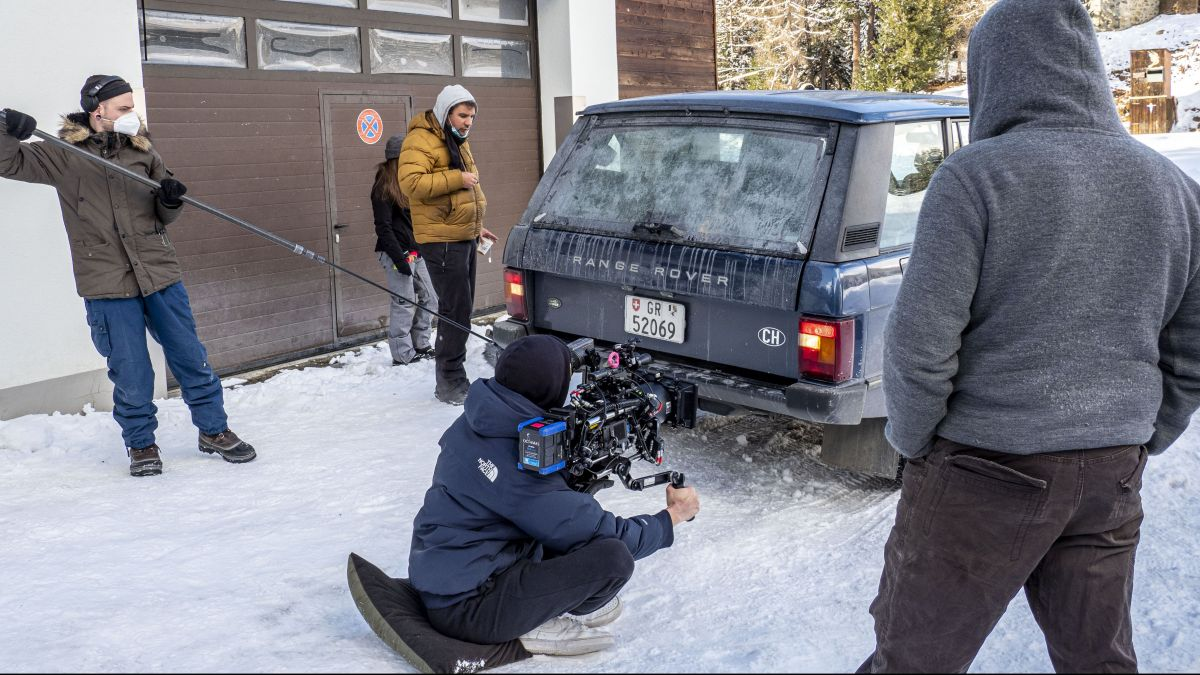 """Derzeit wird der Film """"Le Dormant"""" in St. Moritz gedreht. Foto: Denise Kley"""