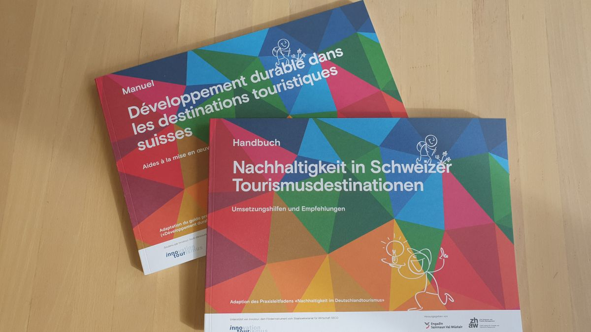 Handbuch für Nachhaltigkeit in Schweizer Tourismusdestinationen. Foto: TESSVM