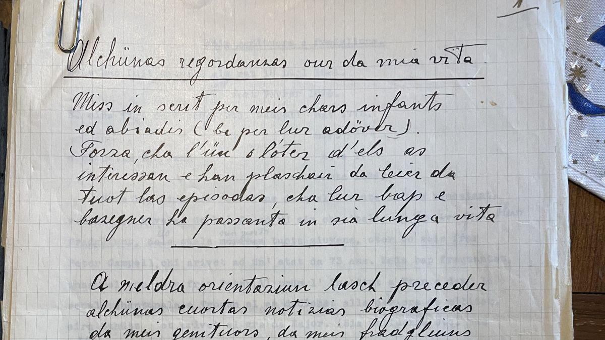 Erst vor zwei Wochen entdeckt: Die originalen, handschriftlichen Manuskripte des Engadiner Pioniers Riet Campell. Foto: Duri Bezzola