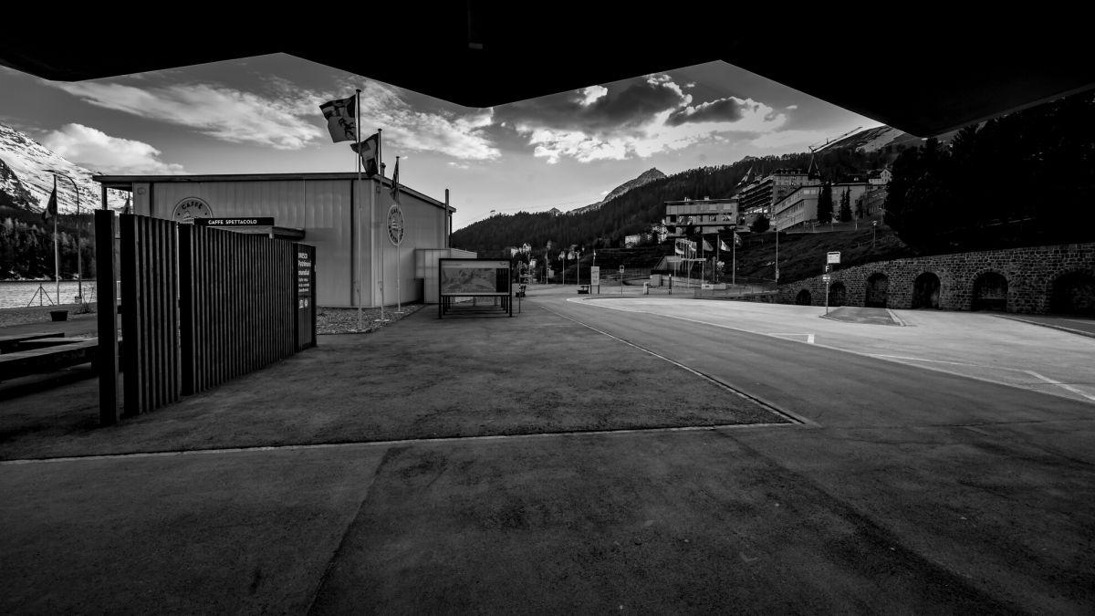 St.Moritz im Lockdown. Foto: Fotoswiss/Giancarlo Cattaneo