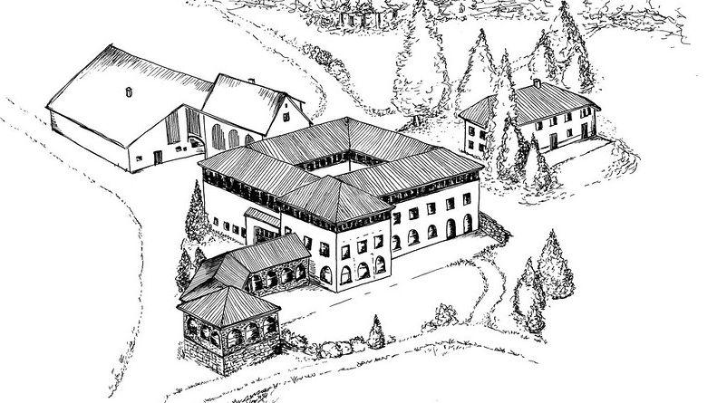 Aus der historischen Meierei am Osteende des St.Moritzersees soll ein Boutiquehotel mit zwölf Suiten und Wellnessangebot werden. Visualisierung: Pensa Architekten