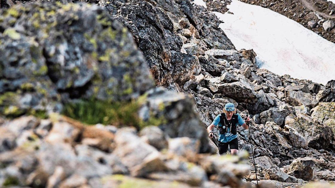 Mehr als 2600 Höhenmeter galt es beim Gletschermarathon zu bezwingen. Foto: Sportograf