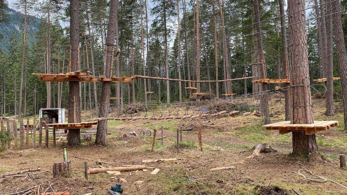 Ils prüms percuors dal nouv parc da suas a Sur En da Sent sun fingià pronts. fotografia: Andri Netzer/FMR