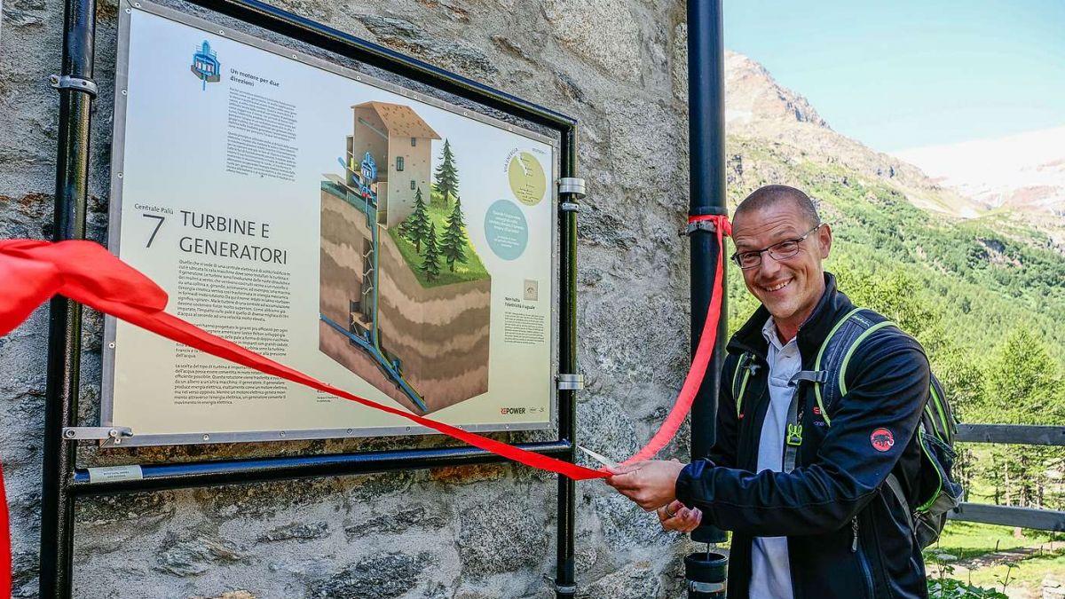 Repower-COO Samuel Bontadelli weihte am Samstag beim Kraftwerk Palü die neu gestaltete Via Energia offiziell ein. Fotos: Jon Duschletta