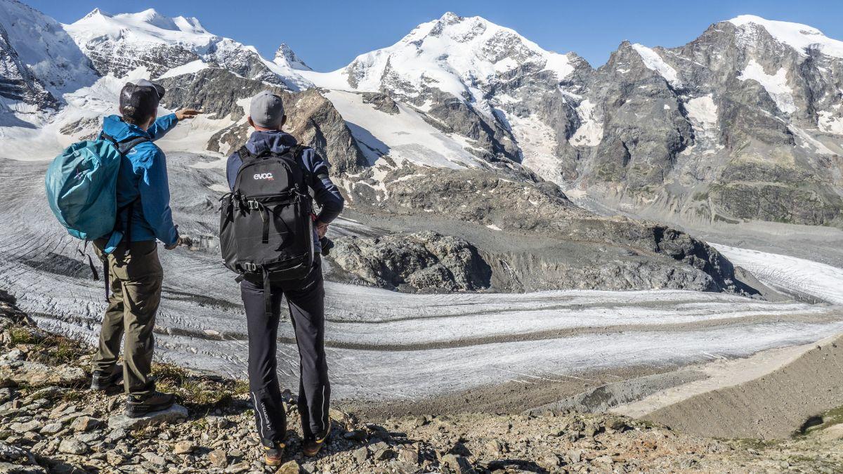 Nicht nur der Persgletscher und der Piz Palü faszinieren auf dem neuen Rundweg. Von diesem aus ist auch der Piz Bernina und ein Stück des Morteratschgletschers zu bestaunen. Foto: Valentina Baumann
